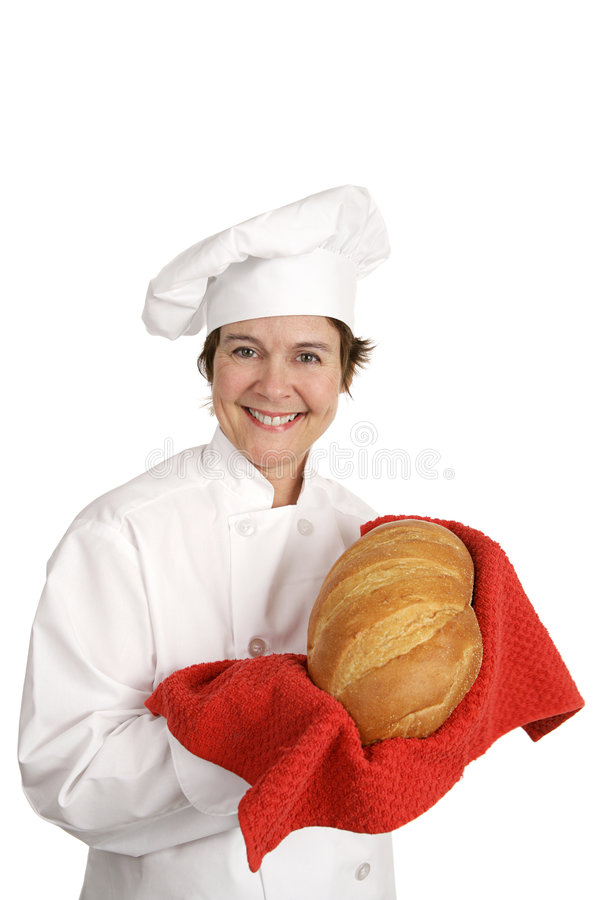серия итальянки шеф-повара хлеба стоковая фотография