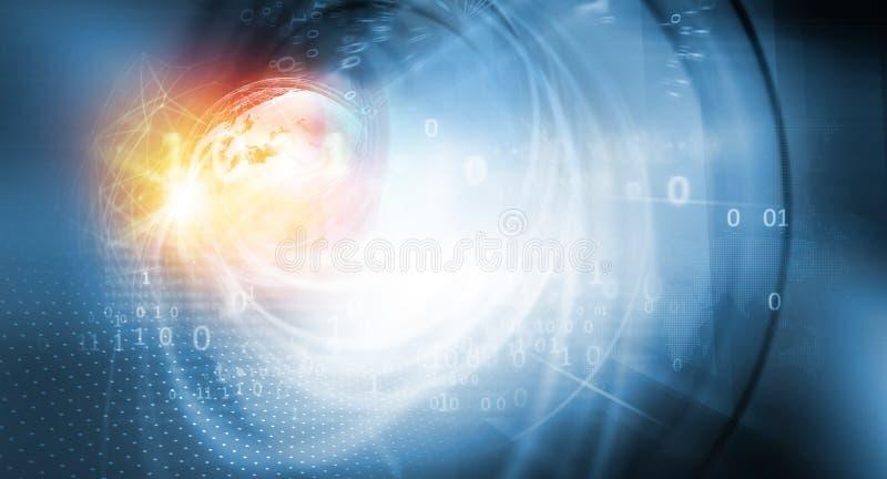 Серия концепции концепции глобального бизнеса и цифровой связи стоковая фотография rf