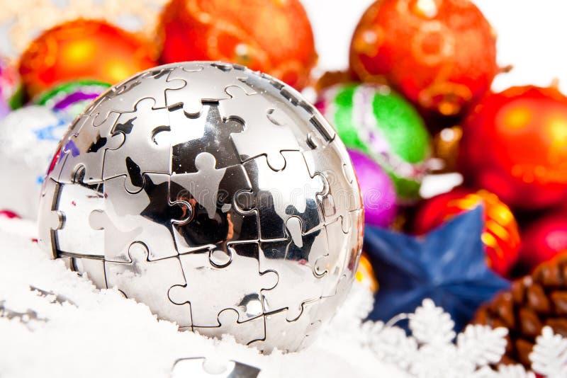серия орнамента украшения рождества стоковое фото