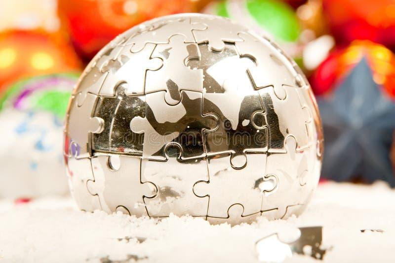 серия орнамента украшения рождества стоковое изображение