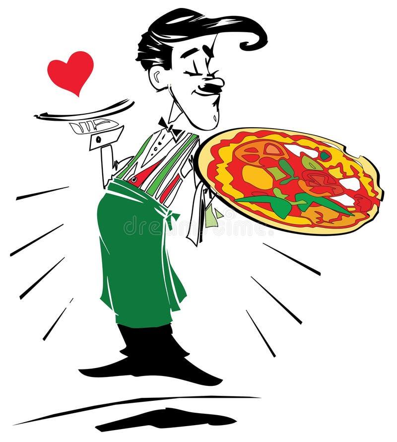 серия пиццы работы иллюстрация вектора