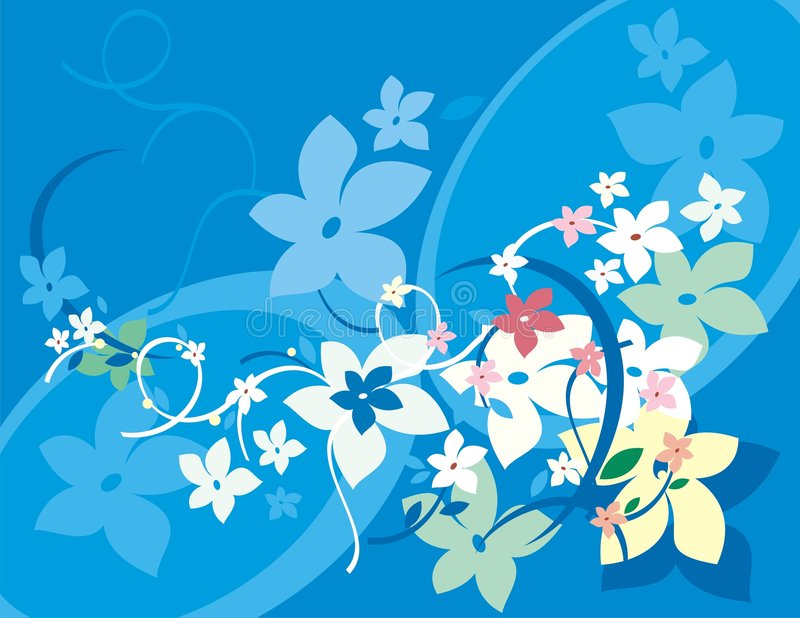серия предпосылки флористическая иллюстрация вектора