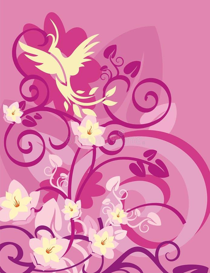 серия птицы предпосылки флористическая иллюстрация штока