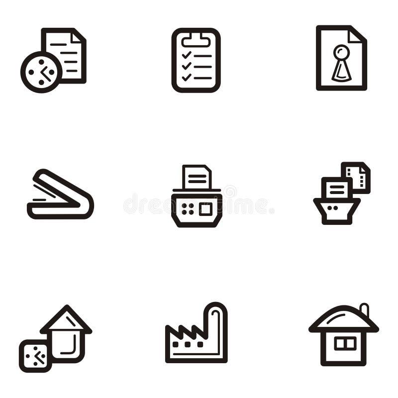 серия равнины иконы дела бесплатная иллюстрация