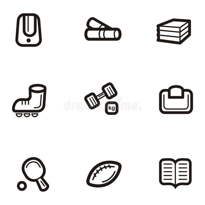 серия равнины иконы образования иллюстрация штока