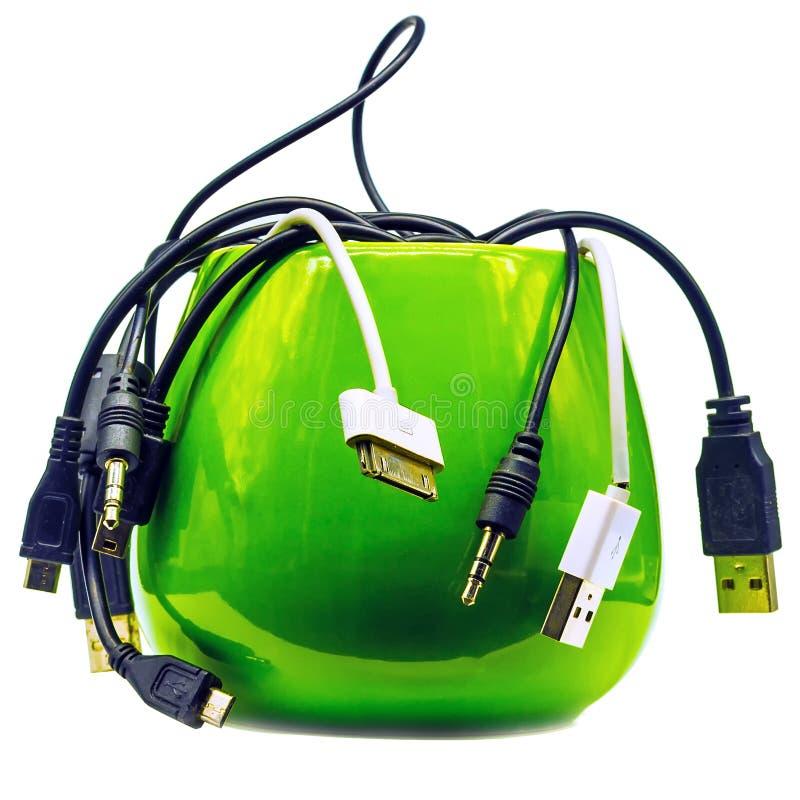 Серия различных кабелей для стоковое фото rf