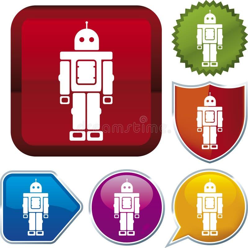 серия робота иконы Стоковая Фотография RF