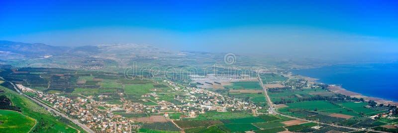 Серия Святой Земли - долина Panorama#2 Migdal стоковая фотография rf