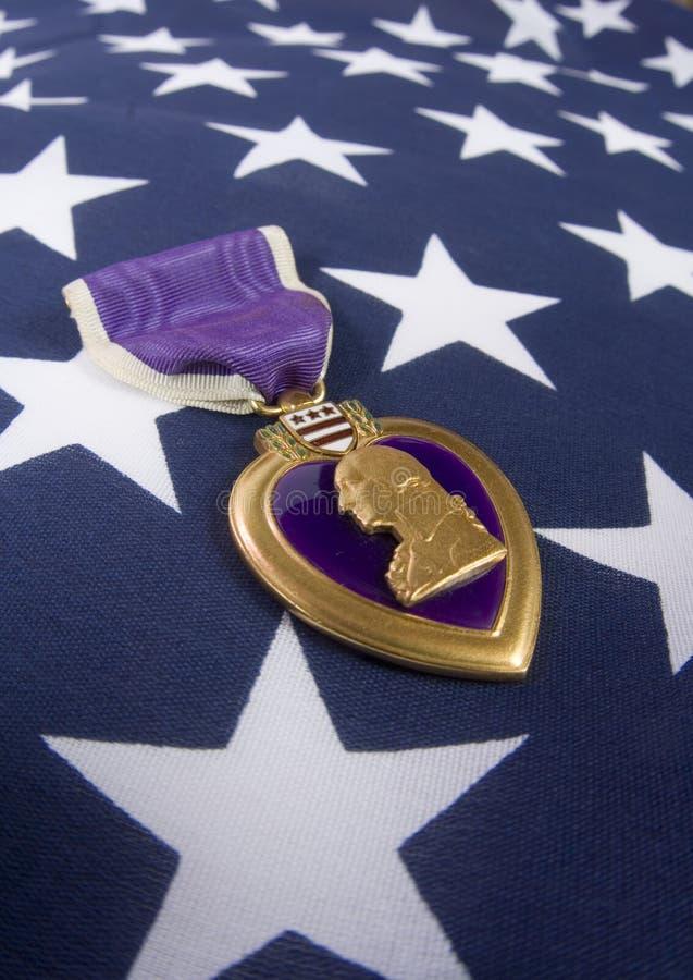 серия сердца дня мемориальная пурпуровая стоковая фотография rf