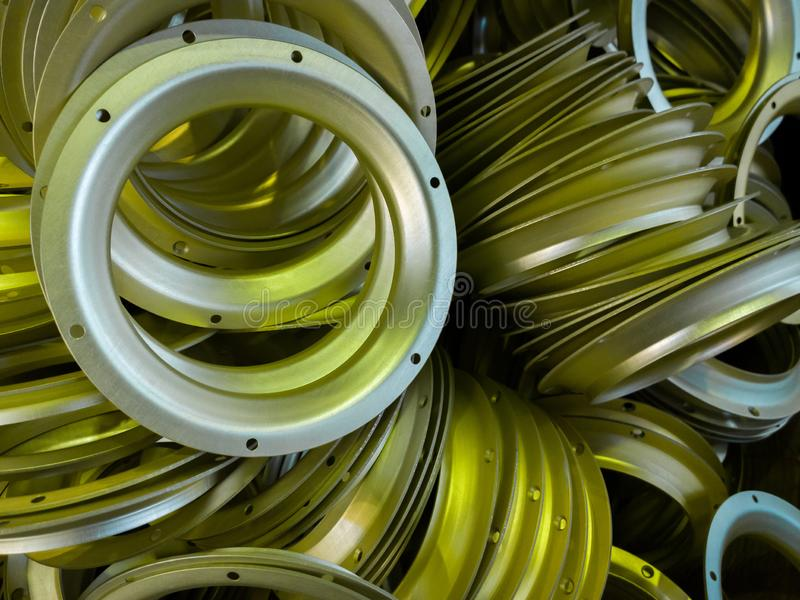 Серия серы oxidated анодированные алюминиевые части стоковая фотография rf