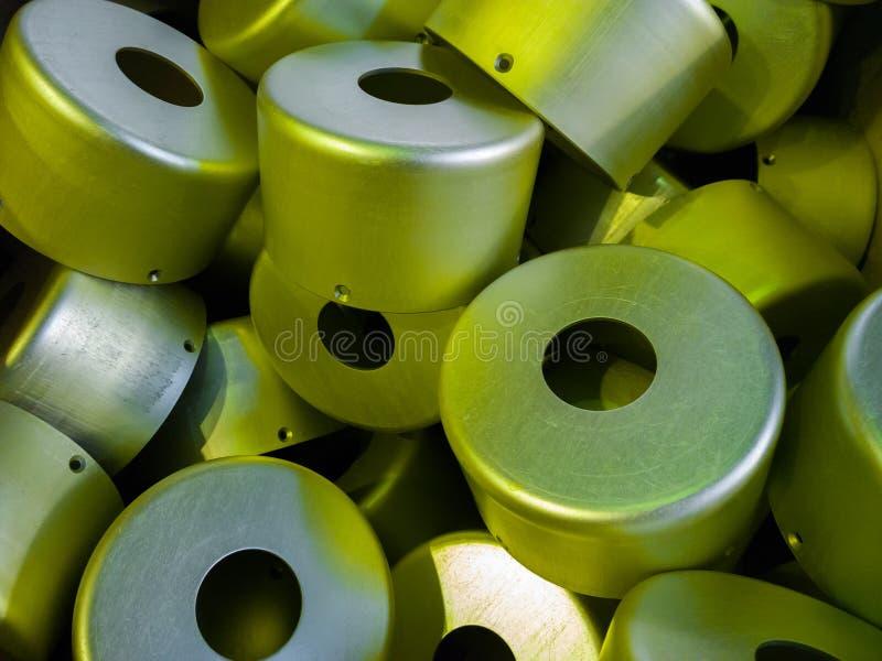 Серия серы oxidated анодированные алюминиевые части стоковое фото