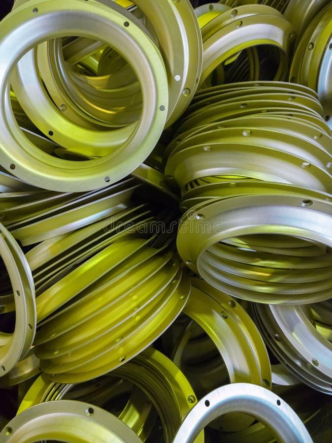 Серия серы oxidated анодированные алюминиевые части стоковое фото rf