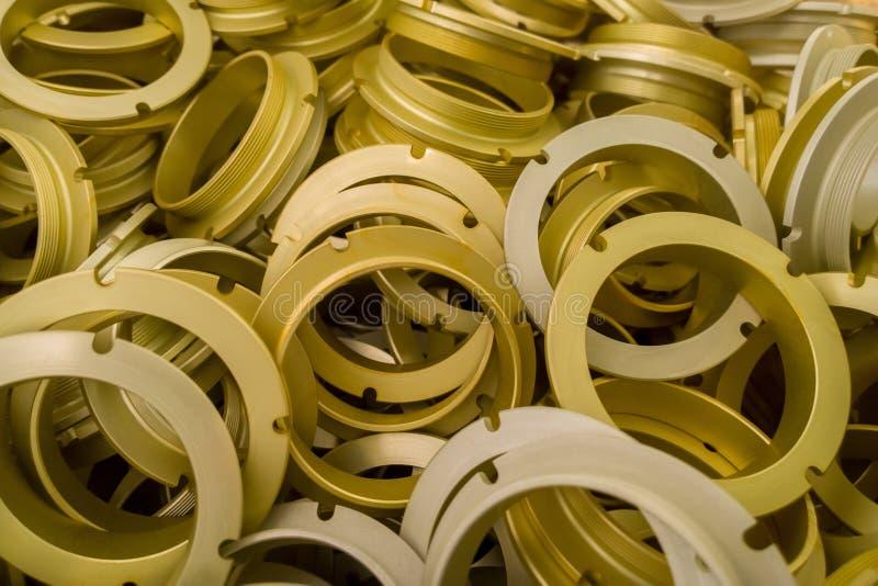 Серия серы oxidated анодированные алюминиевые части стоковые фото