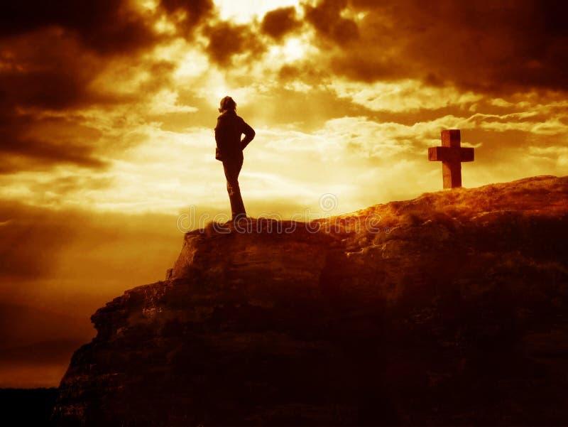 серия скептика креста Голгофы стоковое фото