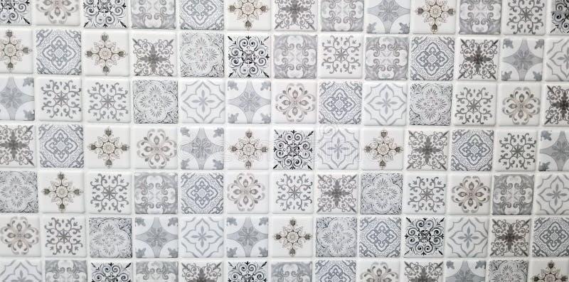 Серия текстуры - современные кафельные картины стоковые изображения rf