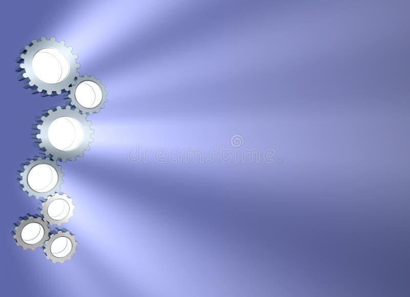 серия шестерни иллюстрация вектора
