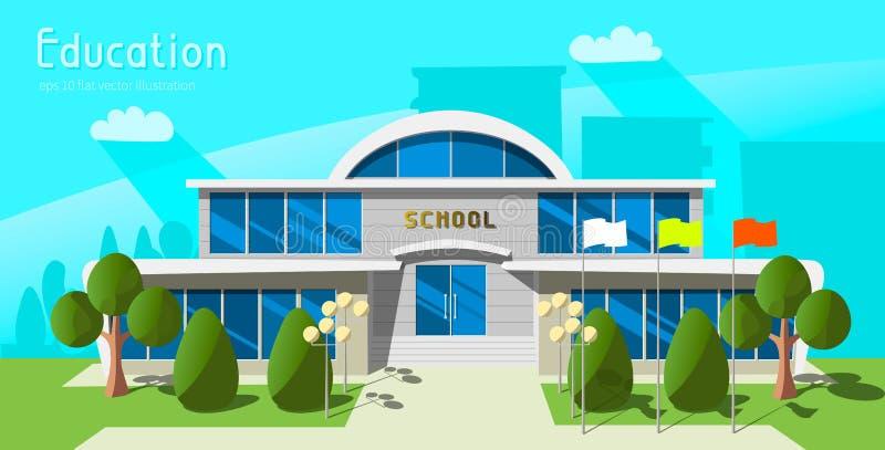 серия школы шаржа зданий здания бесплатная иллюстрация
