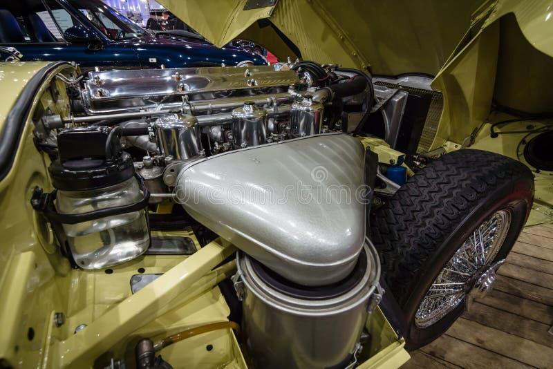 Серия ягуара машинного отсека E типа 1 coupe, 1963 стоковое изображение rf