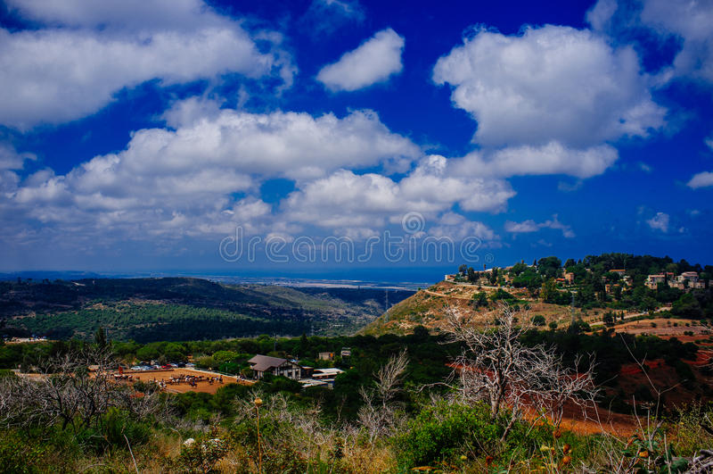 Серия Holyland - Mount Hermon carmel стоковая фотография