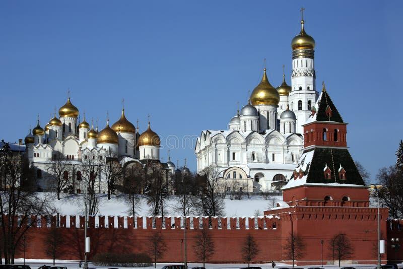 серия kremlin michael собора archangel стоковое изображение