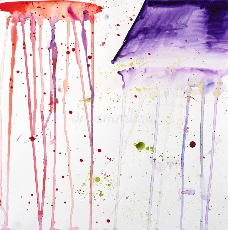 Серия Mood Тайна Абстрактный водяной цвет фона стоковые изображения