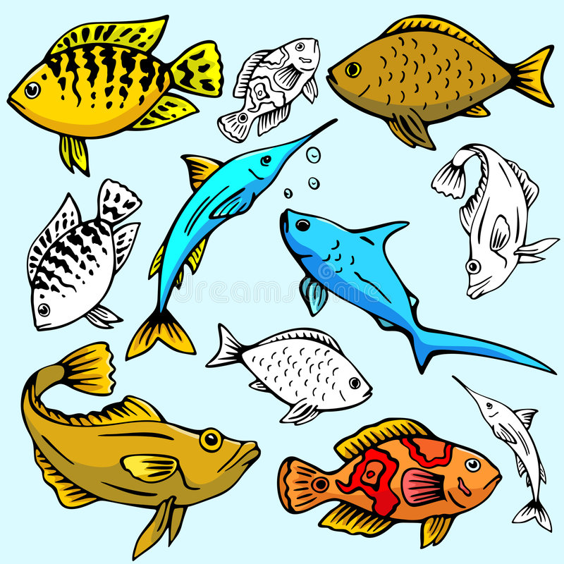 серия seaworld иллюстрации иллюстрация вектора