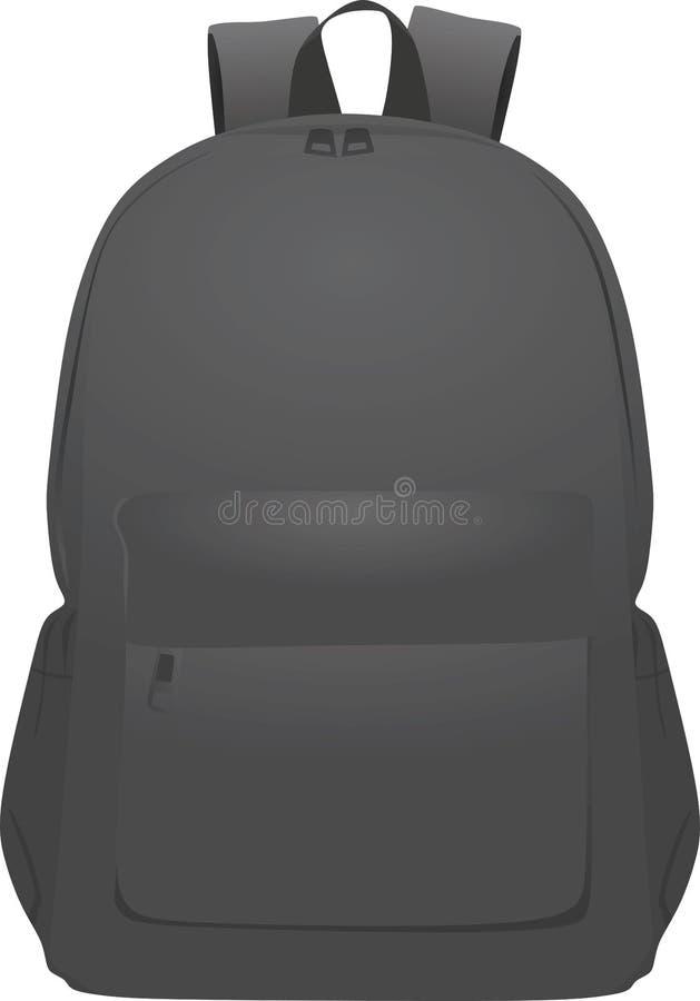 Серое вид спереди рюкзака бесплатная иллюстрация