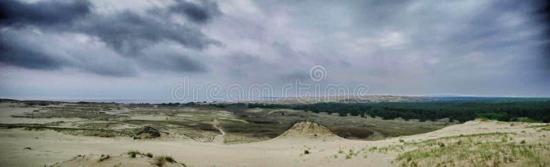 Серое время дюн осенью стоковые изображения
