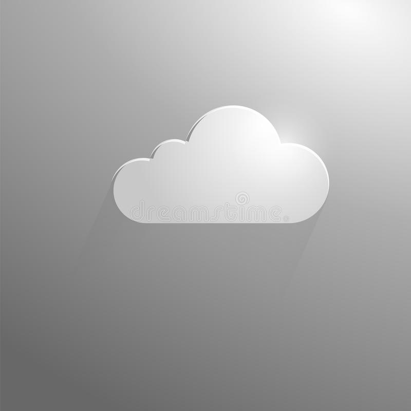 Серое облако на серой предпосылке стоковые фото