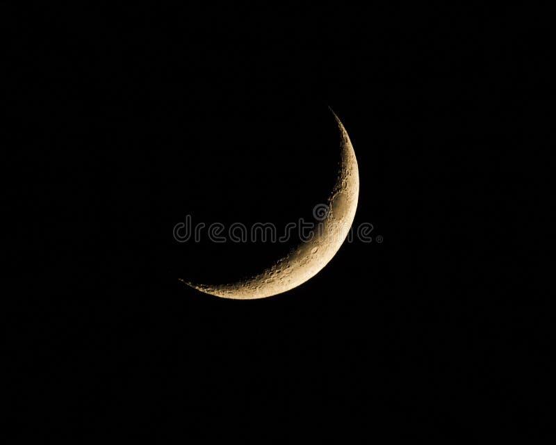 Серповидная луна стоковая фотография rf