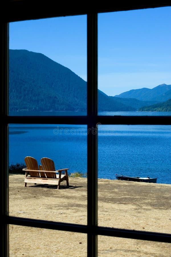 серповидное озеро стоковое фото