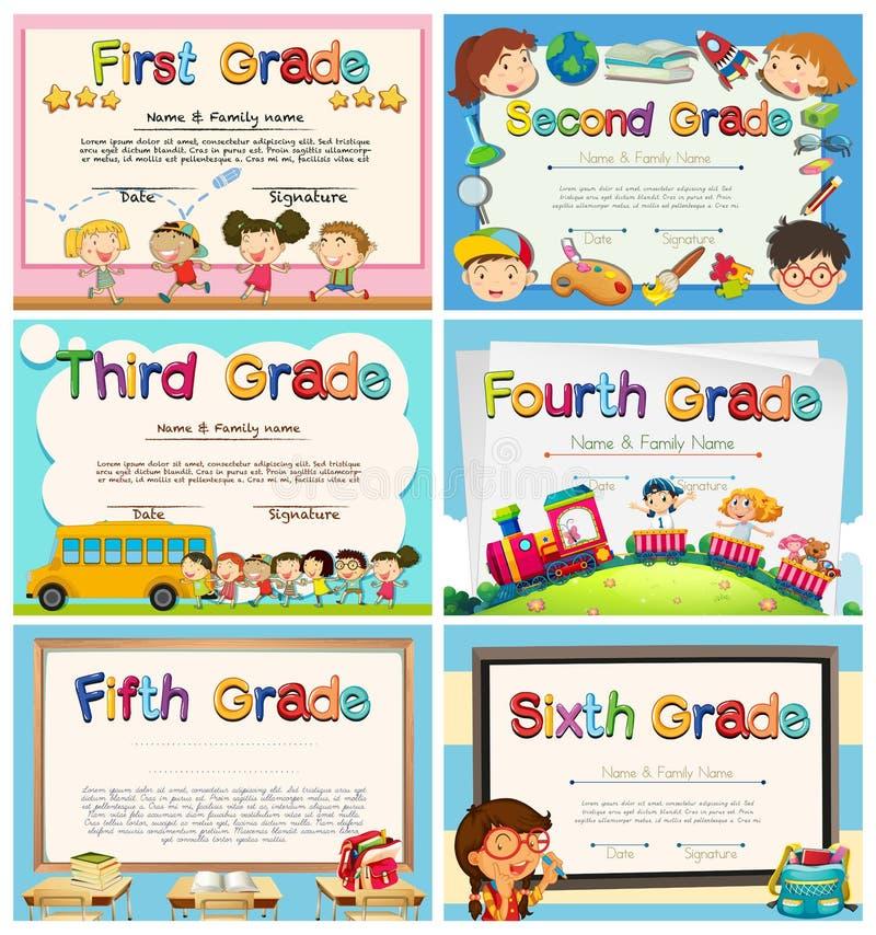 Сертификаты для детей в начальной школе бесплатная иллюстрация