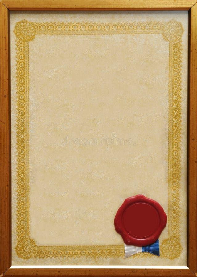 сертификат банка стоковые изображения