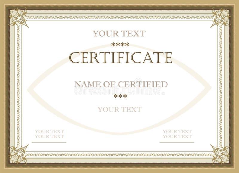 сертификат пожалования иллюстрация штока