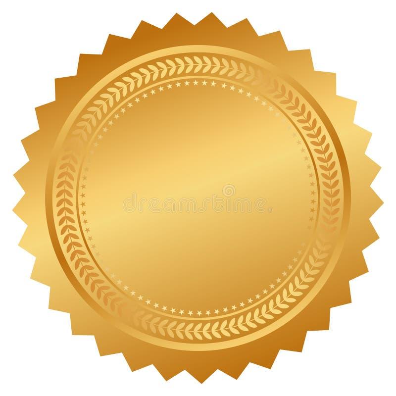 Сертификат уплотнения вектора иллюстрация вектора
