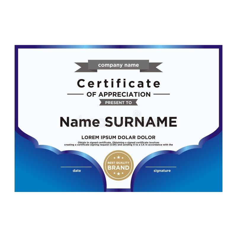 Сертификат шаблона достижения Они полно и масштабируемый без проигрышного разрешения Editable цвет Используйте вектор так иллюстрация штока