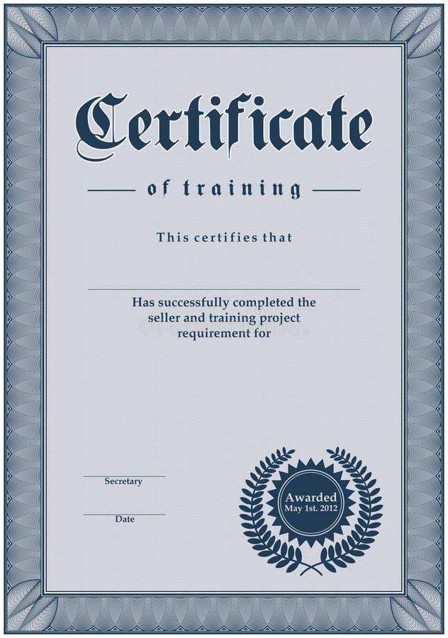 сертификат бесплатная иллюстрация