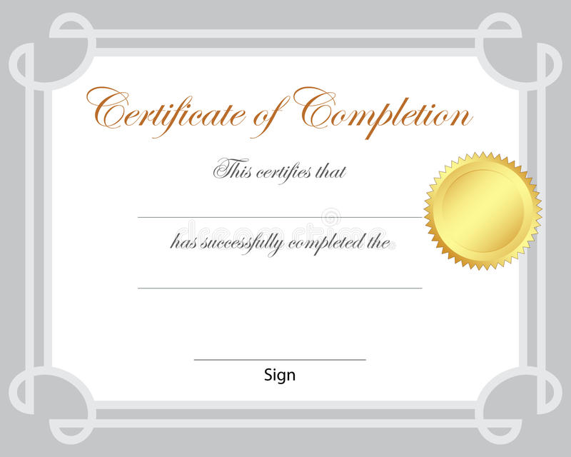 Сертификат иллюстрация вектора