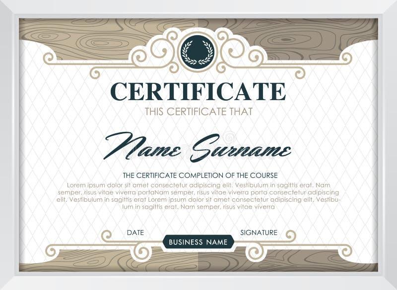 сертификат иллюстрация штока