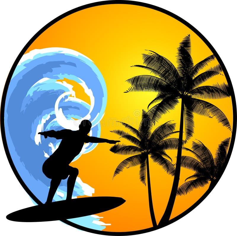 серфер иллюстрация вектора