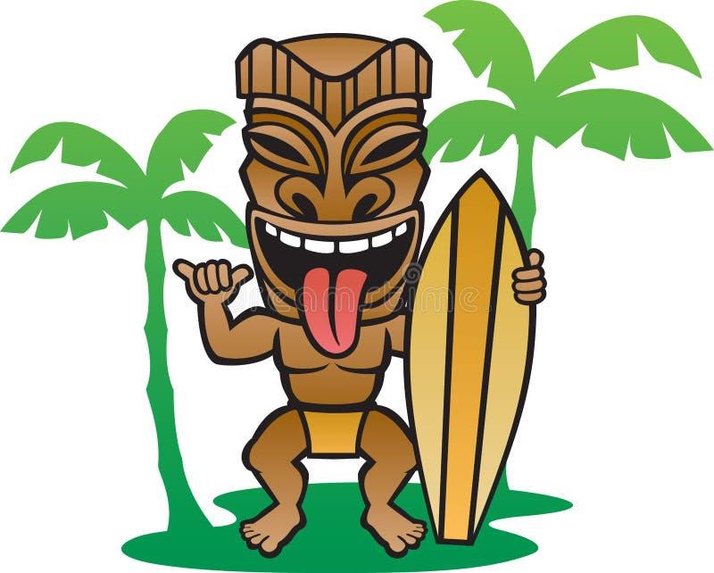 Серфер Tiki иллюстрация штока