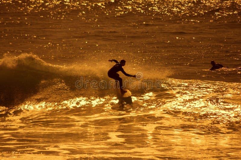 Серфинг моря стоковое изображение rf
