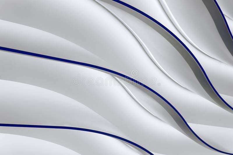 Серые волны градиента иллюстрация вектора
