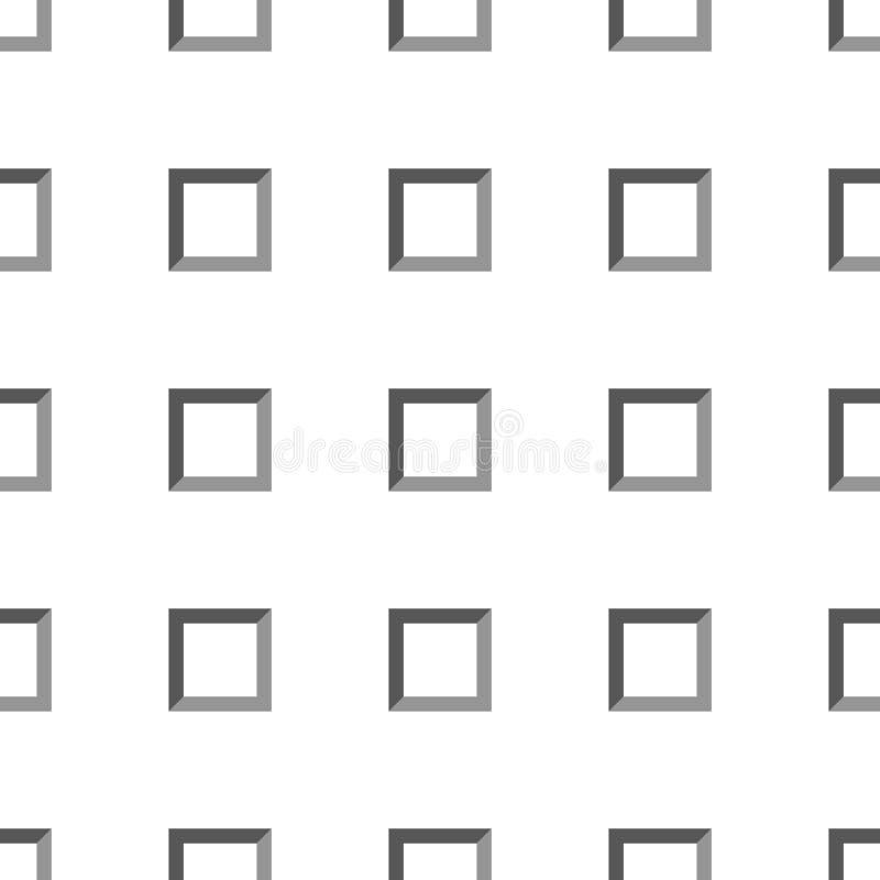 Серые и белые квадраты простая геометрическая абстрактная безшовная картина, вектор бесплатная иллюстрация