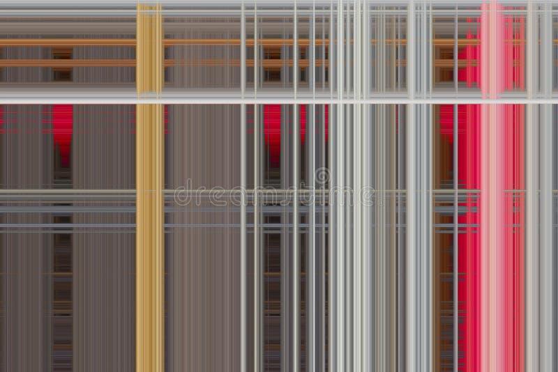 Серые красные бежевые прокладки цвета одна осень ширины пиксела малая multycolored абстрактная предпосылка иллюзии Современный ци бесплатная иллюстрация