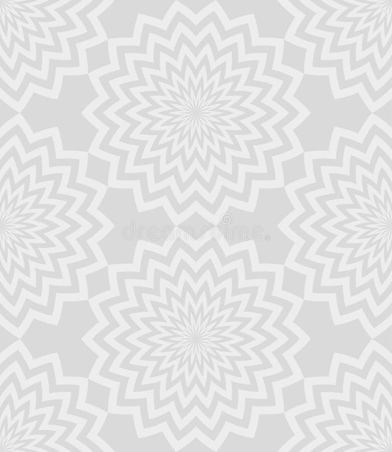 Серые круговые линии цветки зигзага с красивой сделанной по образцу striped картиной лепестков обои вектора предпосылки флористич иллюстрация штока