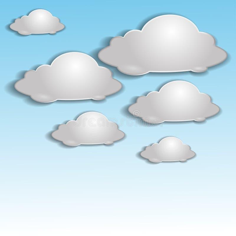 Серые облака иллюстрация штока