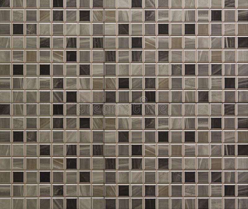 серые плитки мозаики стоковое изображение
