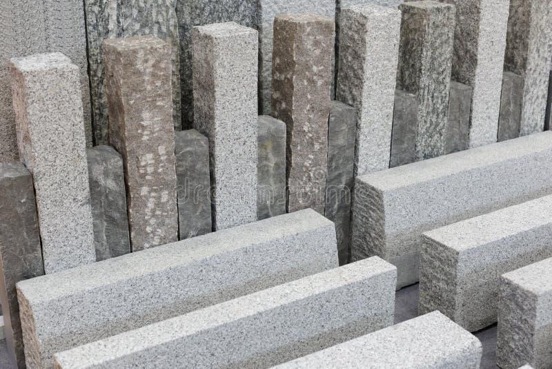 Серые строительные материалы камня гранита стоковые фотографии rf