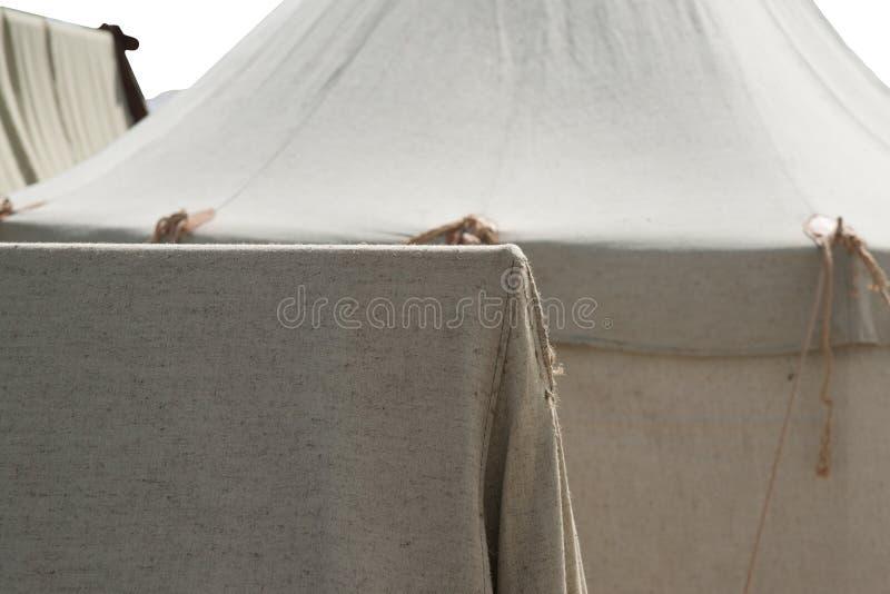 Серые шатры ткани римского военного лагеря стоковая фотография